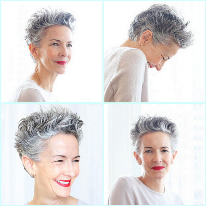 Catherine Walsh short hair styling tip - Nivea Creme on wet hair